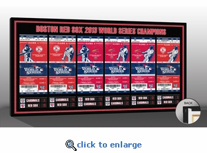 2013 World Series Tickets to History Canvas Print - Boston Red Sox