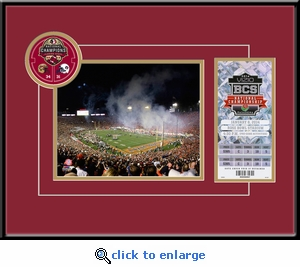 2014 BCS Championship Game 8x10 Photo & Replica Ticket Frame - Florida State Seminoles