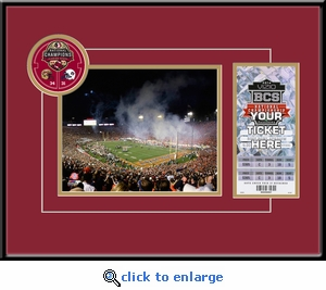 2014 BCS Championship Game 8x10 Photo Ticket Frame - Florida State Seminoles