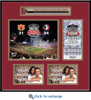 2014 BCS Championship Game Ticket Frame - Florida State Seminoles