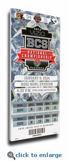 2014 BCS National Championship Game Commemorative Canvas Mega Ticket – Florida State Seminoles