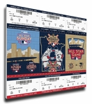 2014 MLB All-Star Game Canvas Mega Ticket Strip - Minnesota Twins