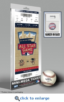 2014 MLB All-Star Game Mini-Mega Ticket, Twins Host - MVP Derek Jeter, Yankees