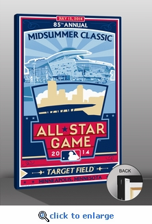 2014 MLB All-Star Game Sports Propaganda Canvas Print - Minnesota Twins