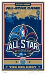 2014 NBA All-Star Game Sports Propaganda Limited-Edition Handmade Serigraph - New Orleans Pelicans