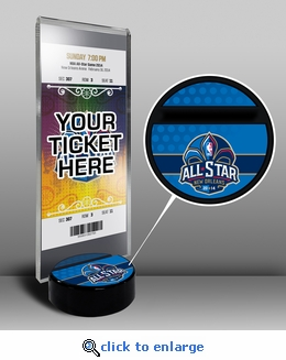 2014 NBA All-Star Game Ticket Display Stand - New Orleans Pelicans