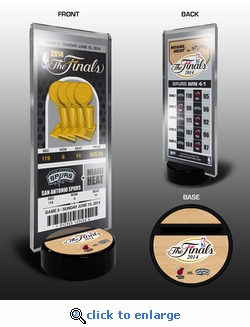 2014 NBA Champions Commemorative Ticket Stand - San Antonio Spurs
