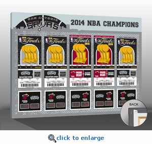 2014 NBA Champions Tickets to History Canvas Print - San Antonio Spurs