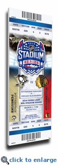 2014 NHL Stadium Series Canvas Mega Ticket - Penguins vs Blackhawks