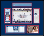 2014 NHL Stadium Series Ticket Frame - Devils vs Rangers