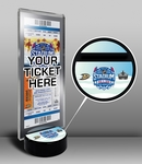 2014 NHL Stadium Series Hockey Puck Ticket Display Stand - Ducks vs Kings
