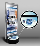 2014 NHL Stadium Series Hockey Puck Ticket Display Stand - Islanders vs Rangers