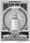 2014 NHL Stanley Cup Champions Sports Propaganda Serigraph -�Los Angeles Kings