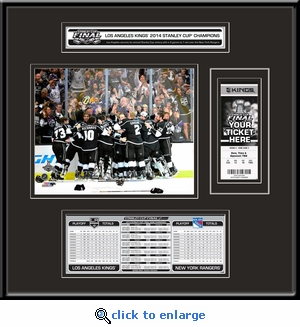 2014 NHL Stanley Cup Final Ticket Frame Jr - Los Angeles Kings