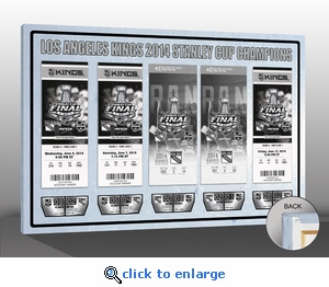 2014 NHL Stanley Cup Final Tickets to History Canvas Print - Los Angeles Kings