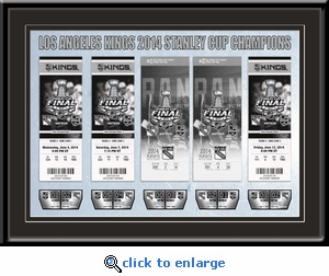 2014 NHL Stanley Cup Champions Tickets to History Framed Print - Los Angeles Kings