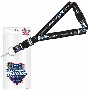 2014 NHL Winter Classic Lanyard, Ticket Holder and Pin - Maple Leafs vs Red Wings