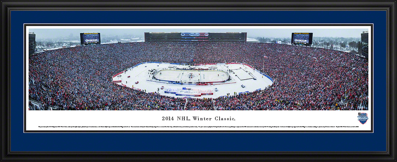 34ca31fe0 2014 NHL Winter Classic - Maple Leafs vs Red Wings - Panoramic Photo (13.5  x 40)