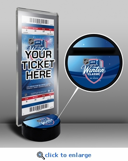2014 NHL Winter Classic Hockey Puck Ticket Display Stand - Maple Leafs vs Red Wings