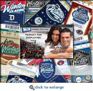 2014 NHL Winter Classic Ticket & Photo Album Scrapbook - Red Wings vs Maple Leafs
