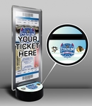 2014 NHL Stadium Series Hockey Puck Ticket Display Stand - Penguins vs Blackhawks