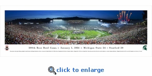 2014 Rose Bowl Champions - Michigan State Spartans - Panoramic Photo (13.5 x 40)