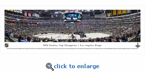2014 Stanley Cup Champions - Los Angeles Kings - Panoramic Photo (13.5 x 40)
