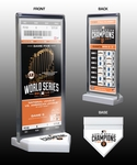 2014 World Series Champions Commemorative Ticket Display - San Francisco Giants