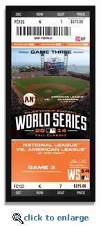 2014 World Series Champions Framed 16x35 Ticket Print - San Francisco Giants