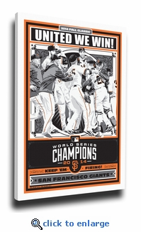 2014 World Series Champions Sports Propaganda Canvas Print - Giants