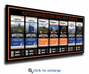 2014 World Series Tickets to History Canvas Print - San Francisco Giants