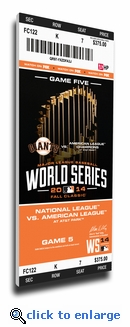 2014 World Series Game 5 Canvas Mega Ticket - San Francisco Giants