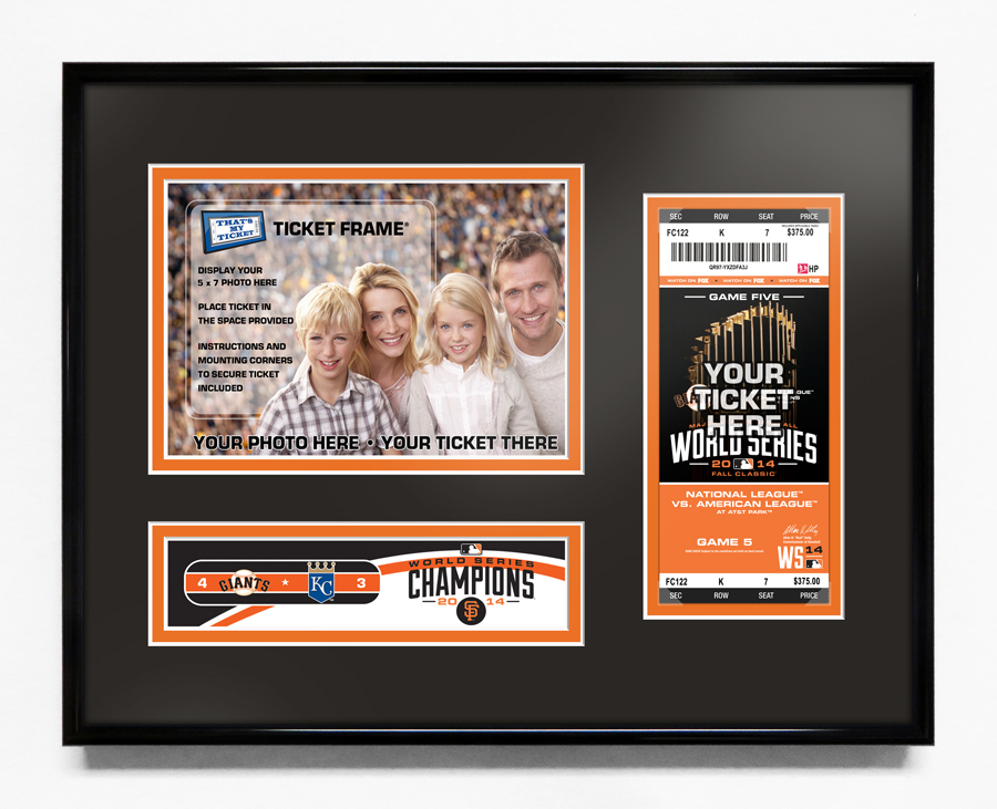 2014 World Series 5x7 Photo Ticket Frame San Francisco Giants