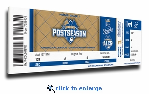 2015 ALCS Canvas Mega Ticket - Kansas City Royals