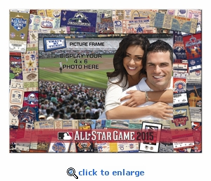 2015 MLB All-Star Game Padded Front 4x6 Picture Frame - Cincinnati Reds