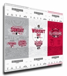 2015 MLB All-Star Game Canvas Mega Ticket Strip - Cincinnati Reds