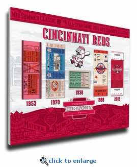 2015 MLB All-Star Game Tickets to History Canvas Print - Cincinnati Reds