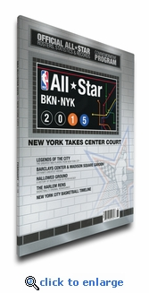 2015 NBA All-Star Game Program Cover on Canvas - New York