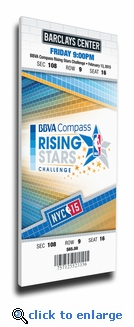 2015 NBA All-Star Rising Stars Challenge Canvas Mega Ticket - New York