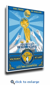 2015 NBA Champions Sports Propaganda Canvas Print - Golden State Warriors