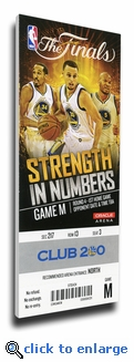 2015 NBA Finals Game 1 Canvas Mega Ticket - Golden State Warriors