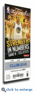 2015 NBA Finals Game 2 Canvas Mega Ticket - Golden State Warriors