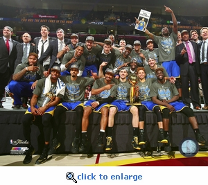 2015 NBA Finals Game 6 - Team Celebration 8x10 Photo - Golden State Warriors