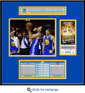 2015 NBA Finals�Ticket Frame Jr - Golden State Warriors