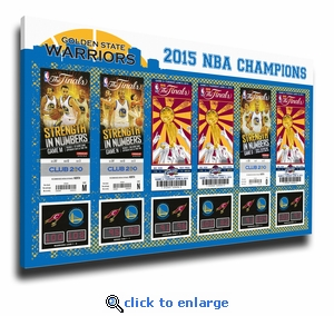 2015 NBA Finals Champions Tickets to History Canvas Print - Golden State Warriors