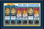 2015 NBA Champions Tickets to History Framed Print - Golden State Warriors
