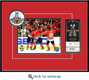 2015 NHL Stanley Cup Champions 8x10 Photo Ticket Frame - Chicago Blackhawks