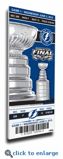 2015 NHL Stanley Cup Final Game 1 Canvas Mega Ticket - Tampa Bay Lightning