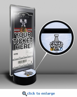 2015 NHL Stanley Cup Final Hockey Puck Ticket Stand - Blackhawks vs Lightning