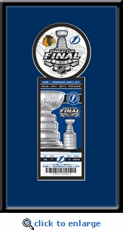 2015 NHL Stanley Cup Final Single Ticket Frame - Tampa Bay Lightning